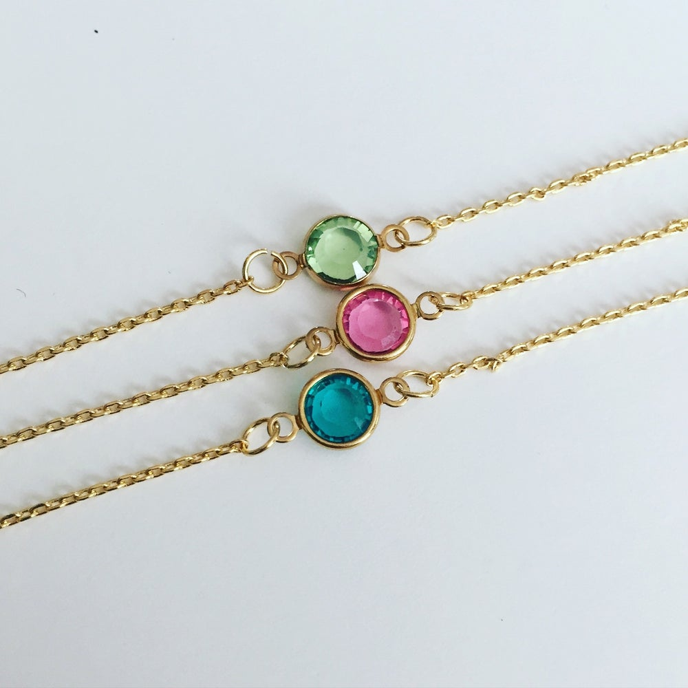 Image of Birthstone Chain Bracelet