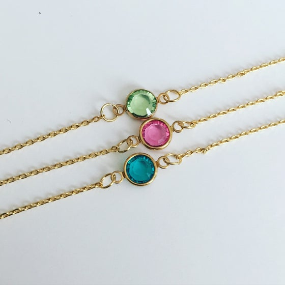 Image of Birthstone Chain Bracelet
