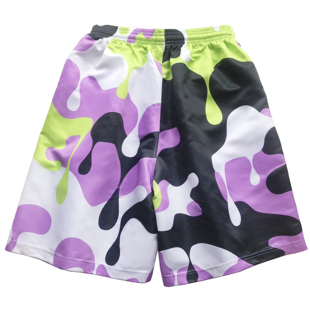 Image of NUCLEAR CAMO Shorts - Lavender