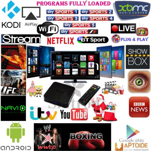 MXQ Quad Core Android TV Box Jailbreak XBMC Full Loaded Free Sky Sports &  Channel