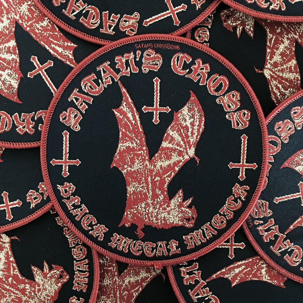 Image of SATANS CROSS WOVEN PATCH