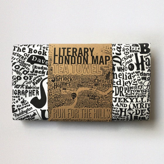 Image of Literary London Tea Towel