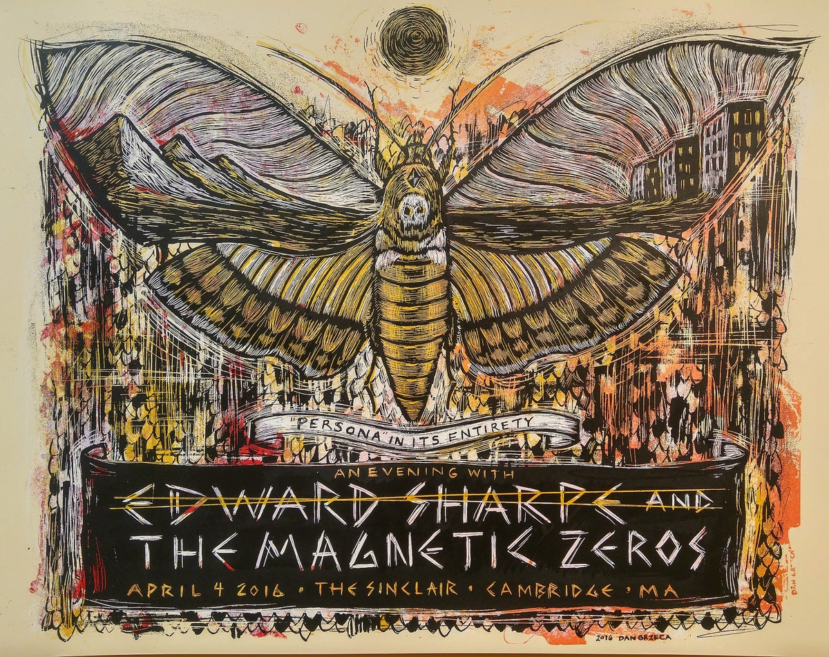 Edward Sharpe & The Magnetic Zeros Moth Poster
