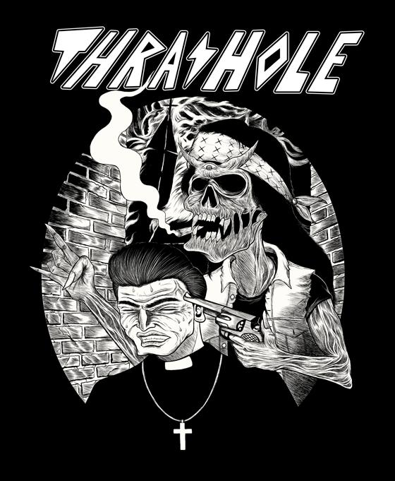 Image of Thrashole Skull/Priest T-shirt