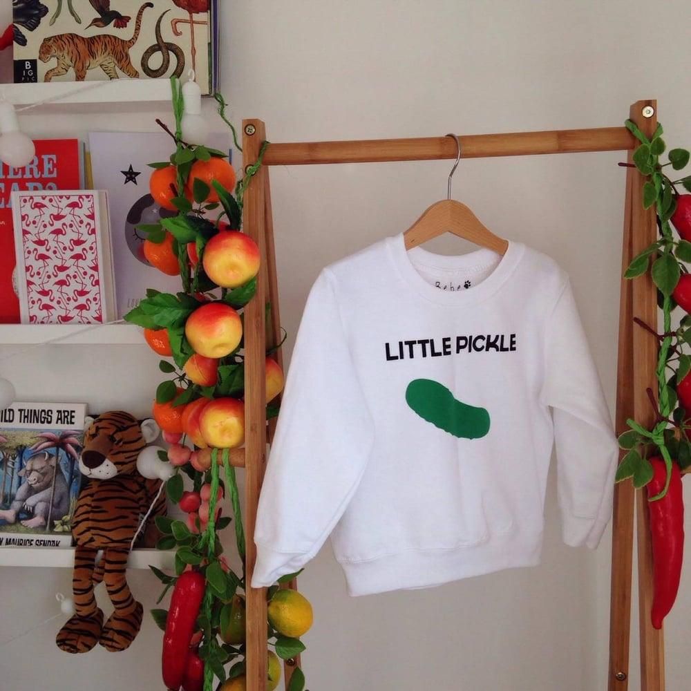 Image of little pickle sweatshirt