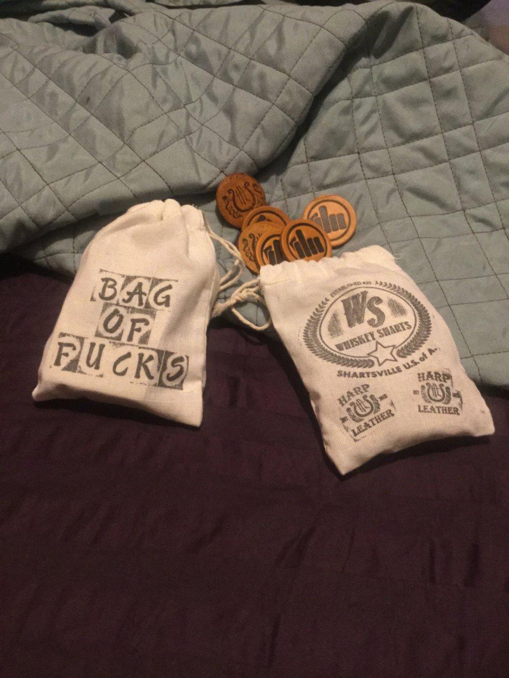 Image of Bag O' Fucks by Harp Leather