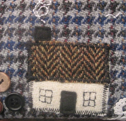 Image of Wee Hoose collage purse (Harris Tweed)