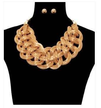 Image of Braided Gold Necklace