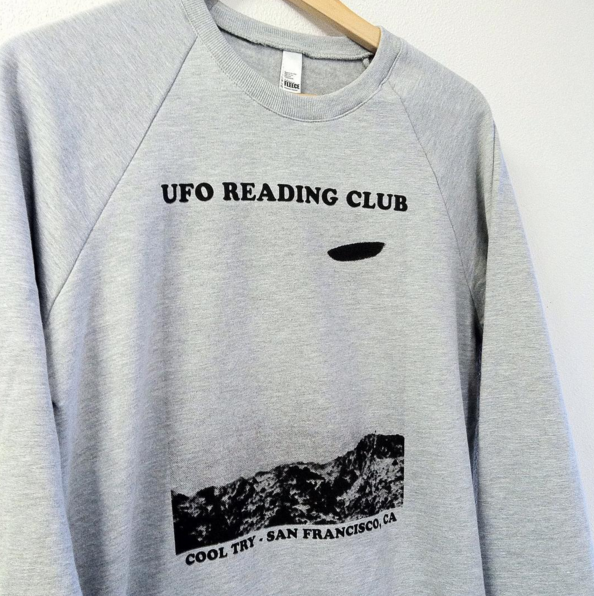 Image of UFO Reading Club Raglan Sweatshirt