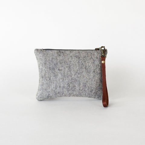 Image of Zipper Wristlet Ash