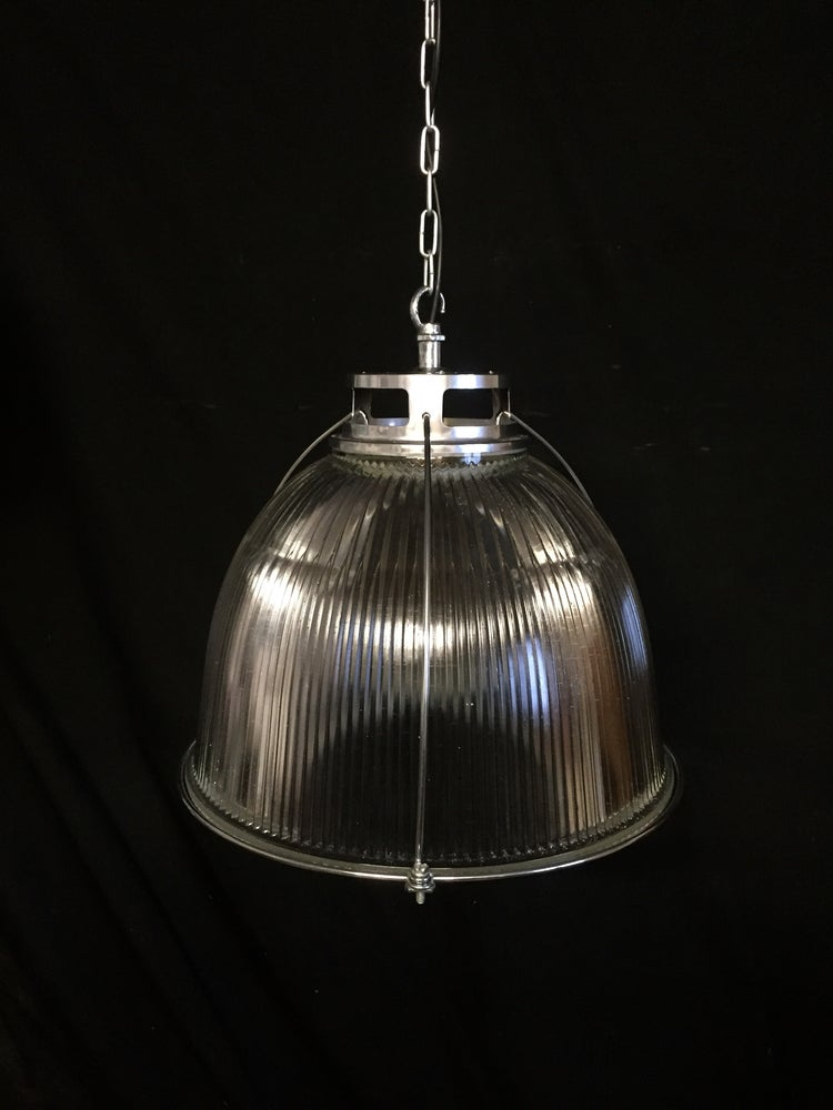 Image of Vintage Industrial Holophane Pendant Light #3
