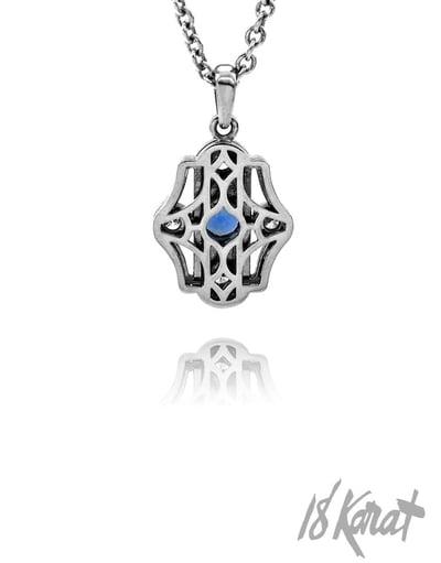 Barbara's Sapphire + Diamond Pendant - 18Karat Studio+Gallery