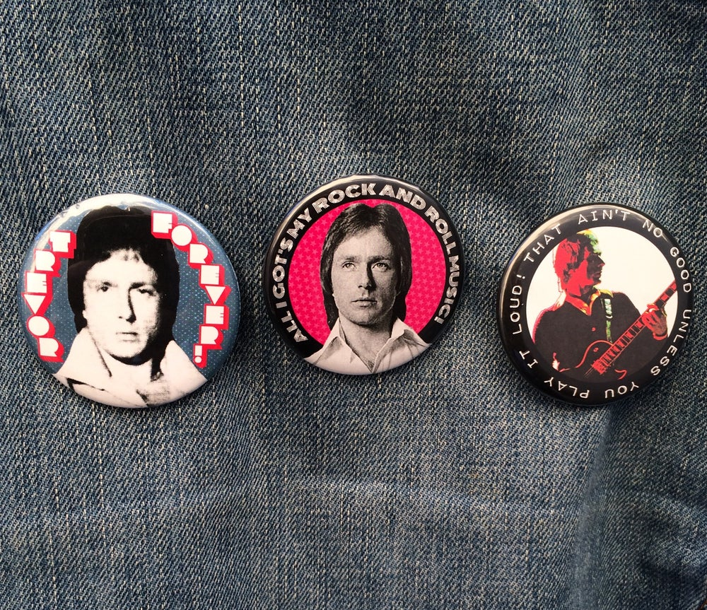 "Image of TREVOR WHITE 2.25"" (57mm) button/badge 3-pack or individually"