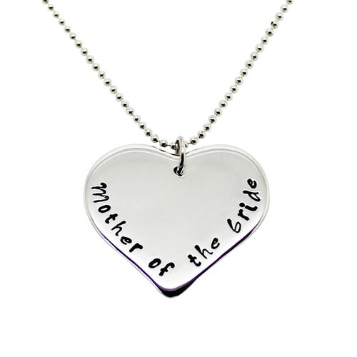 Image of Personalised love heart sterling silver necklace