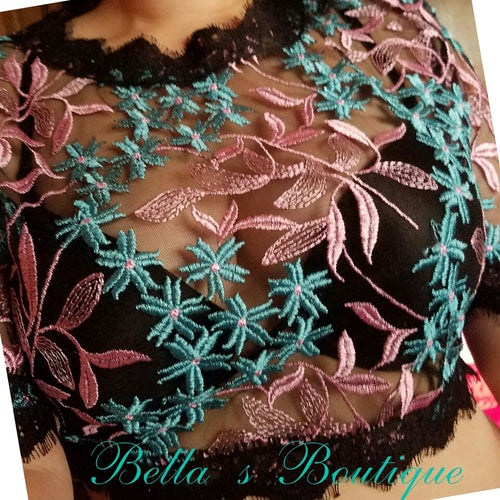 Image of Ava Lace Crop Top