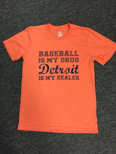 Image of Baseball Is My Drug Unisex Tee