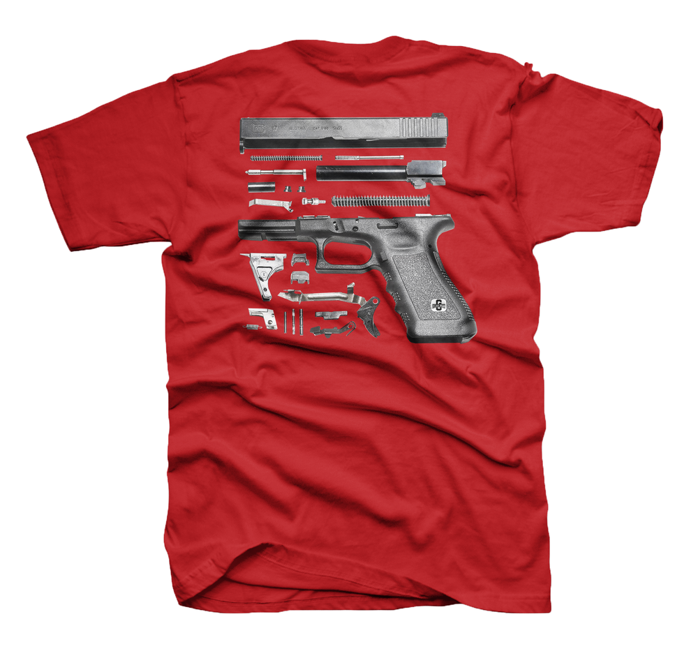 Image of The Glock Tee in Red