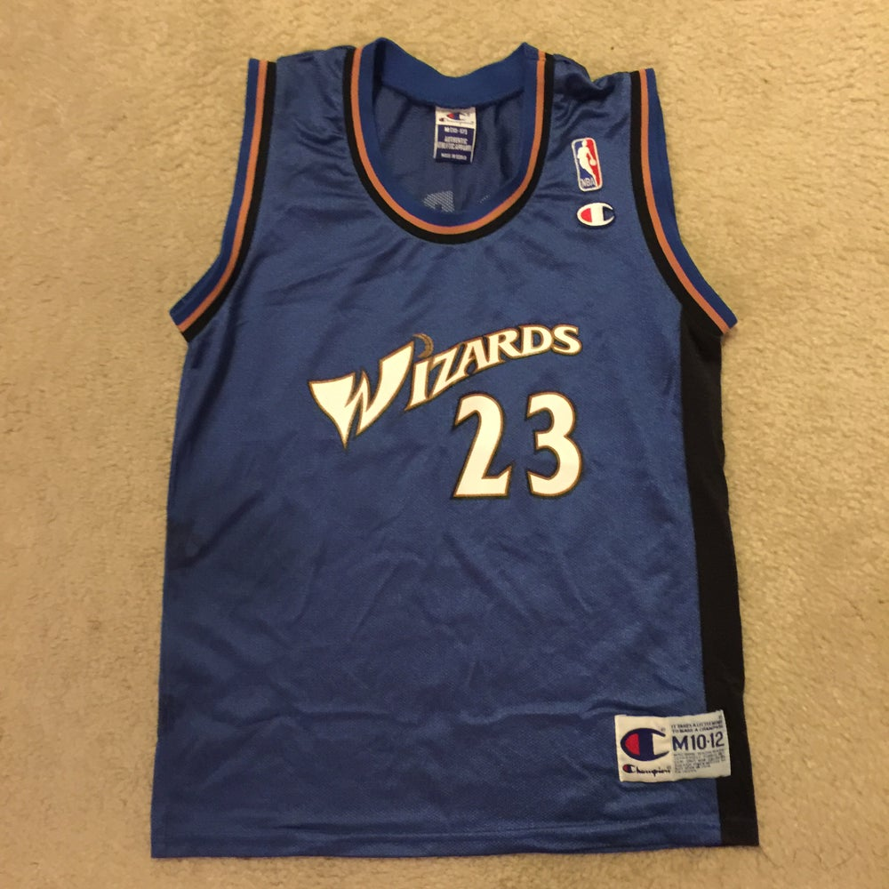 finest selection 3b7e8 003c8 Champion Washington Wizards Jordan #23 Sz Youth M Jersey
