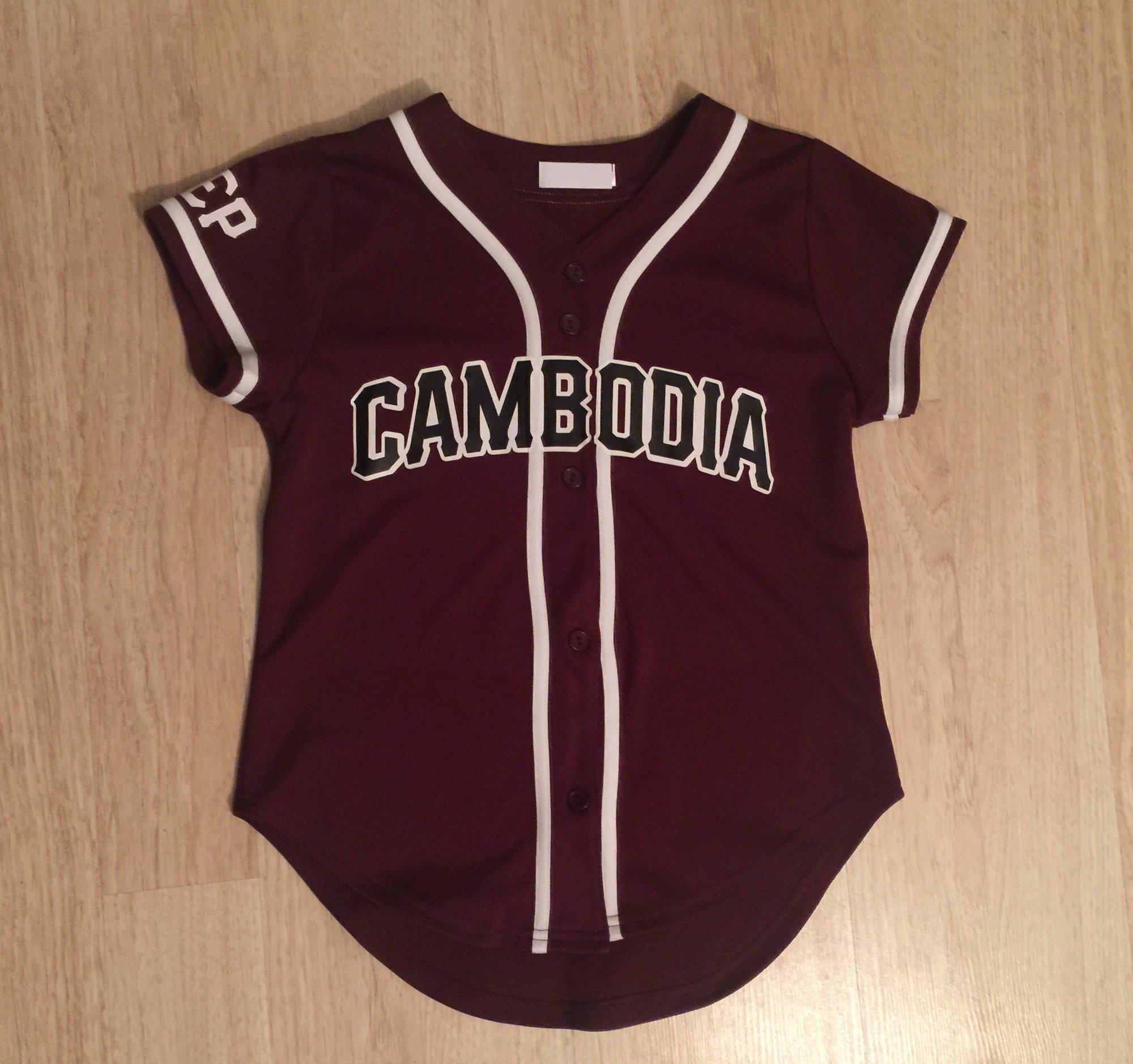 Rep Cambodia — REP CAMBODIA WOMEN BASEBALL JERSEYS 14172d509
