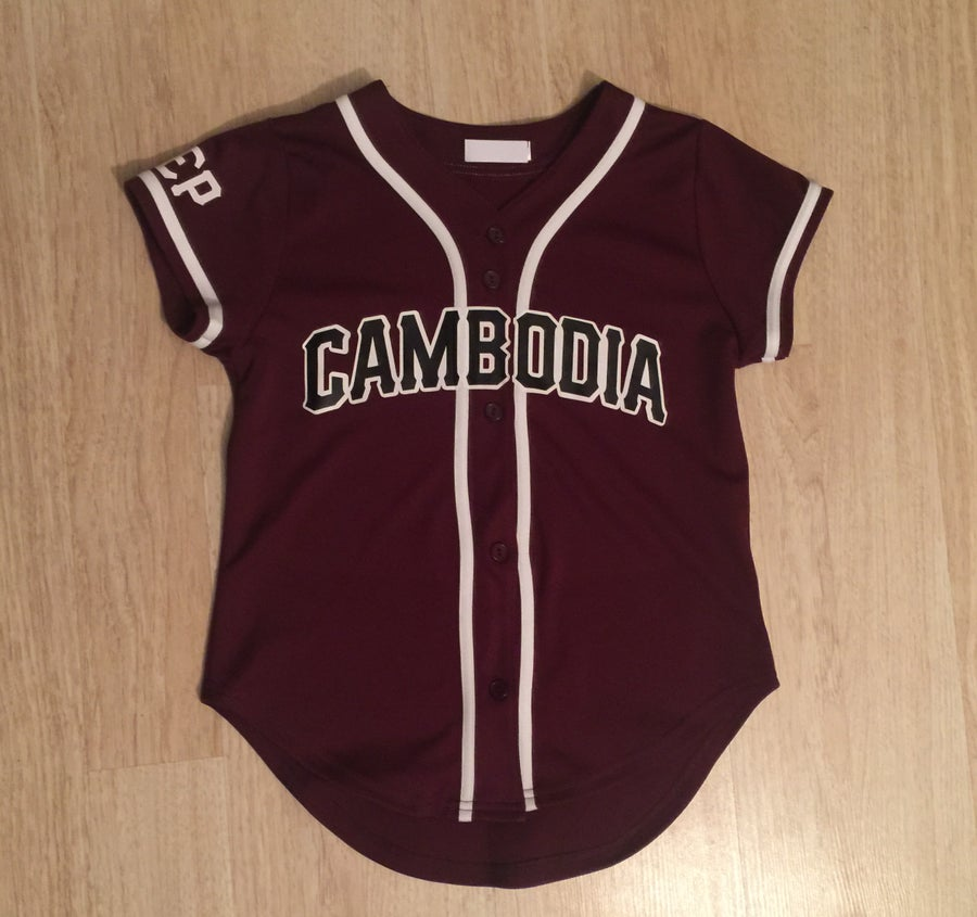 Image of REP CAMBODIA WOMEN BASEBALL JERSEYS