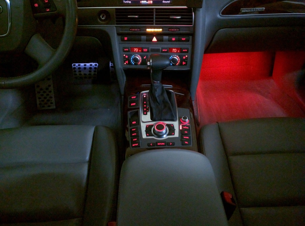 Image of New LED Footwells for Audi models that are equipped with OEM LED Footwells