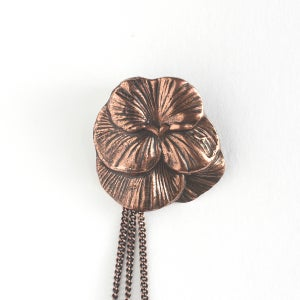 Image of Collier coquelicot 1920's / Poppy necklace