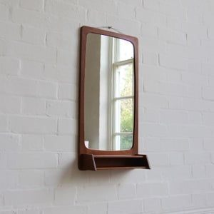 Image of Danish mirror with shelf