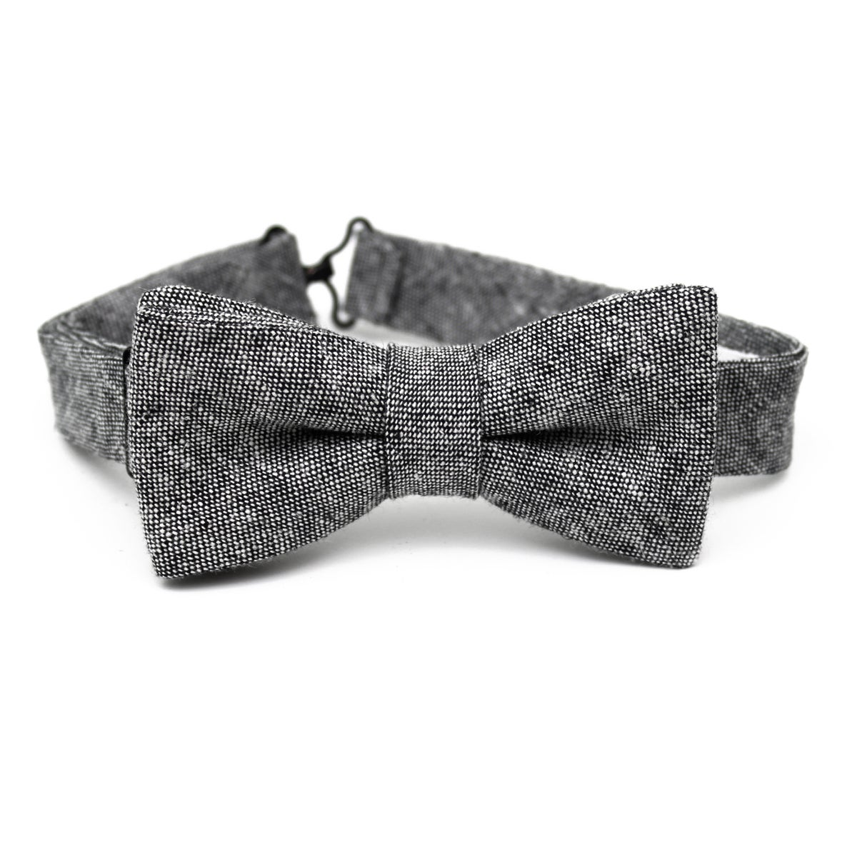 Image of Charcoal Chambray Kids Bow Tie