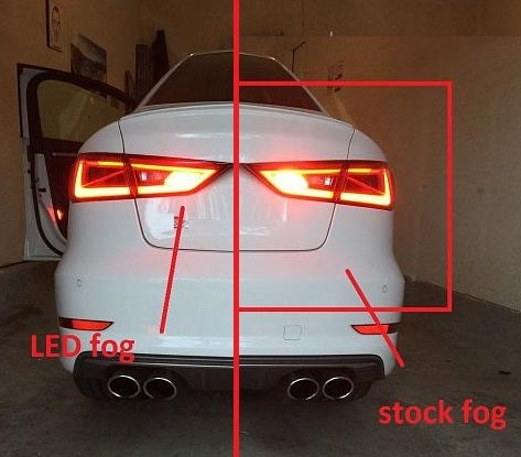 Image of Bright rear error free fog LEDs Fits: Audi 2015 S3 models