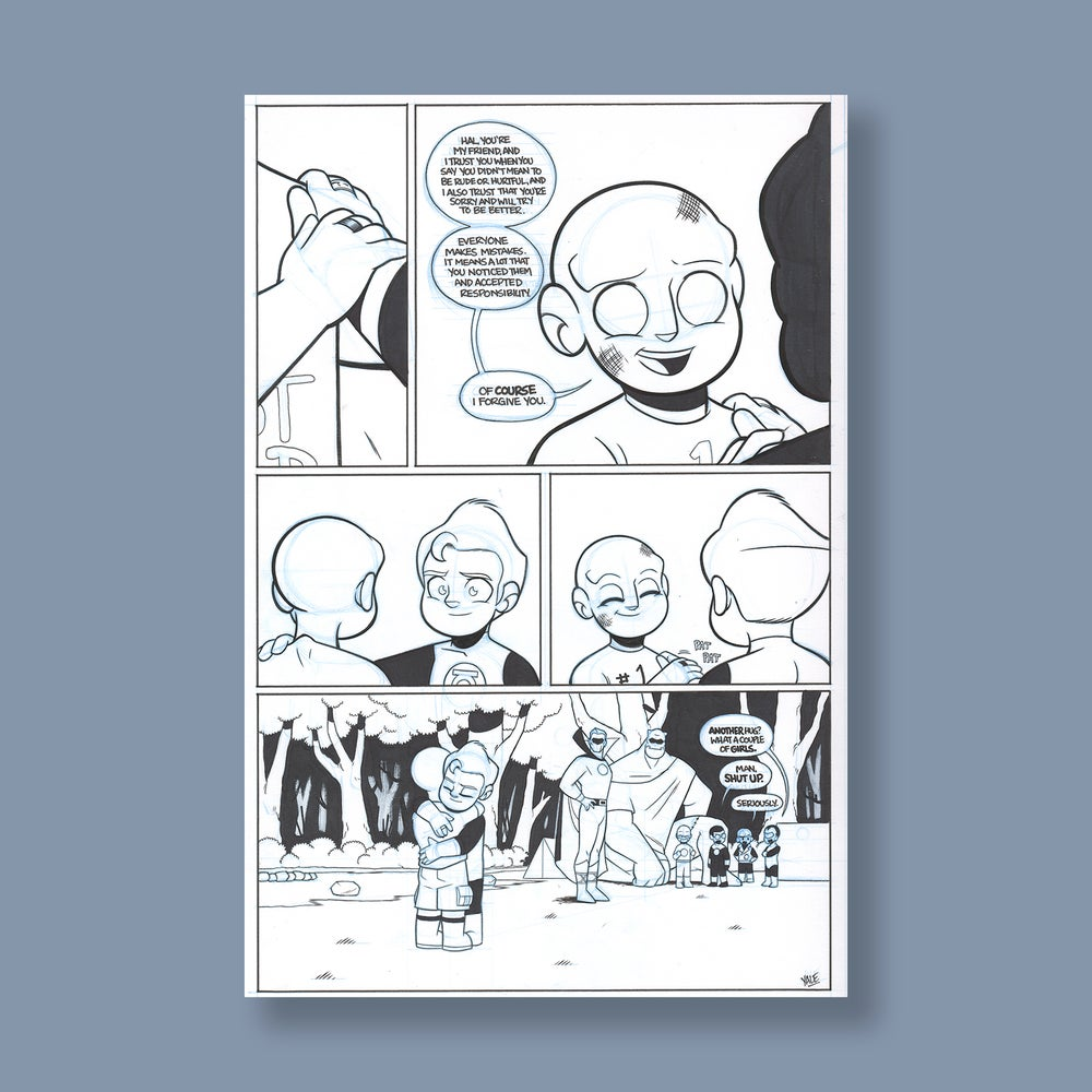 Image of *NEW* JL8 #200, p. 4 original art