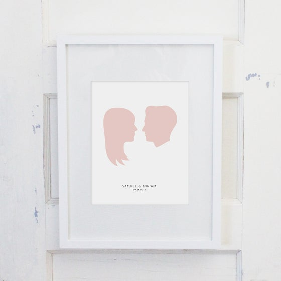 Image of 8x10 Couple Portrait Silhouette Kit