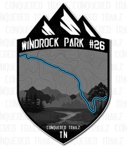"Image of ""Windrock Park #26"" Trail Badge"