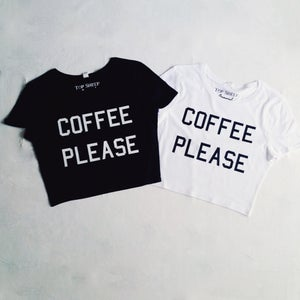 Image of Coffee Please Crop Tops