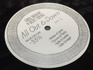 "Image of Chris Brokaw & Geoff Farina ""All Out & Down"" 12"" LP (LL-LP-005) • Vinyl Record (Black)"