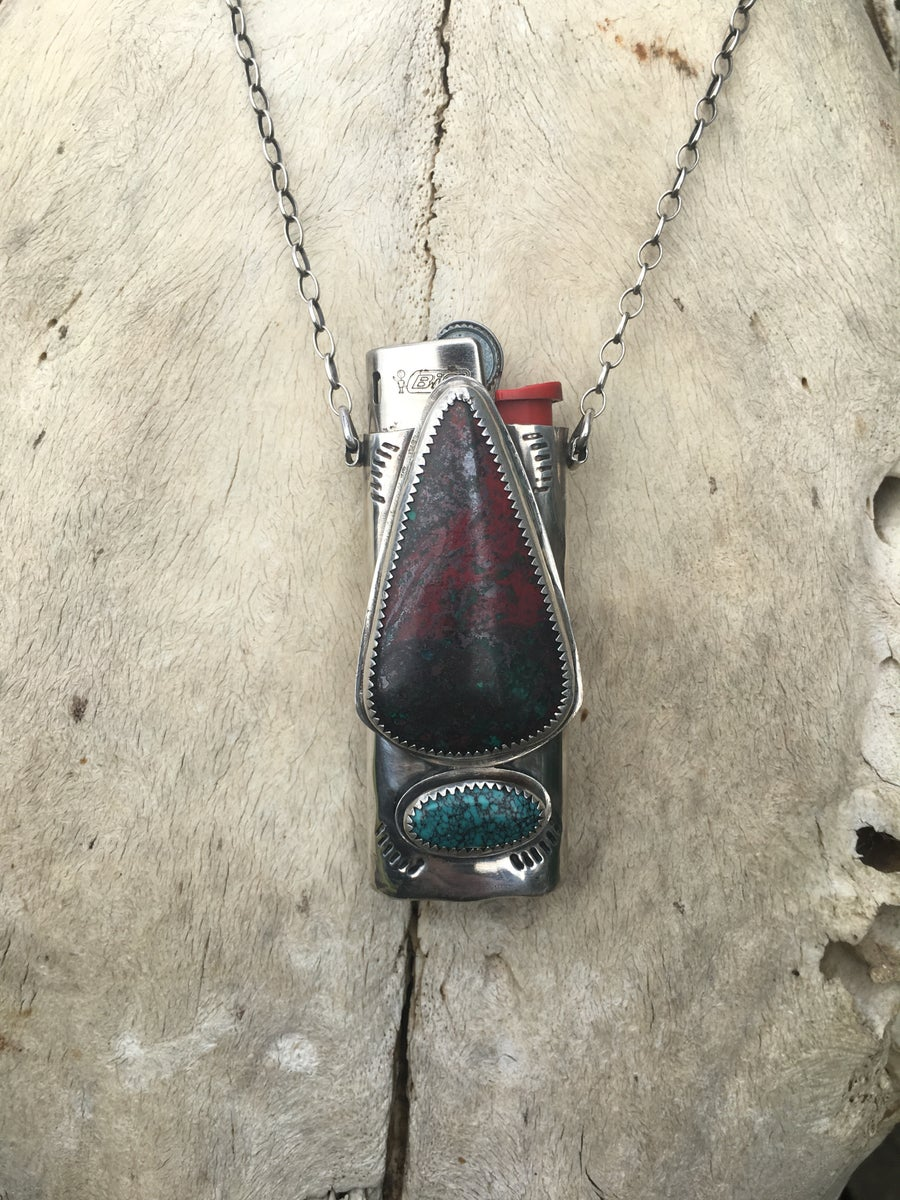 Image of SONORA SUNRISE AND TURQUOISE MINI LIGHTER NECKLACE