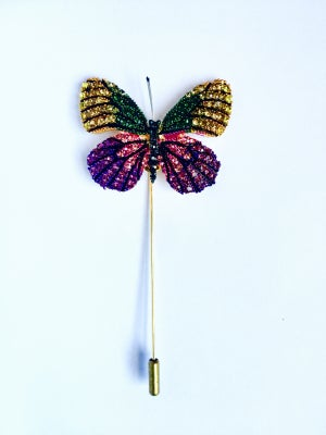 Image of Butterfly Lapel Pin (Pink, Green, Purple, Yellow)