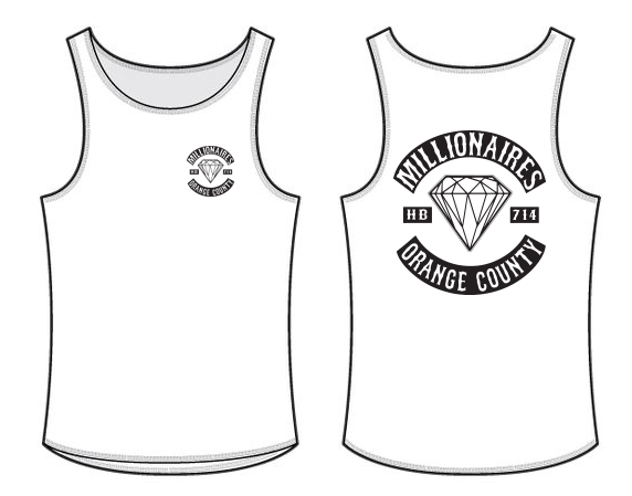 "Image of ""MILLIONAIRES OC CLUB"" WHITE TANK TOP"