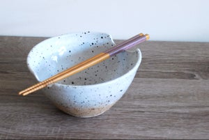 Image of laksa bowl, speckled white