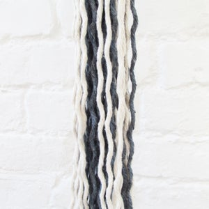 Image of Spiral Macrame Plant Hanger - Denim Blue
