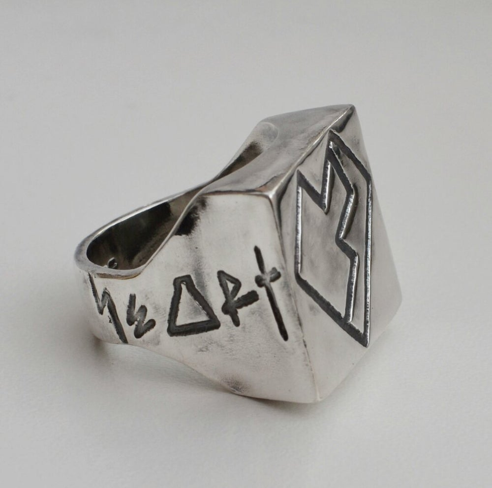 Image of The Heartthrob Solid Silver Ring