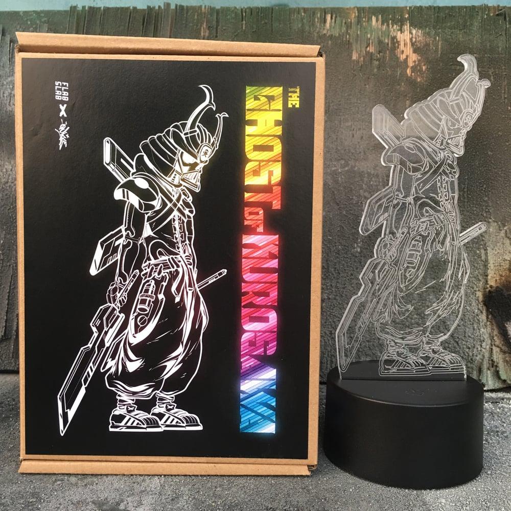 Image of The Ghost of Kurosawa acrylic on color changing LED light