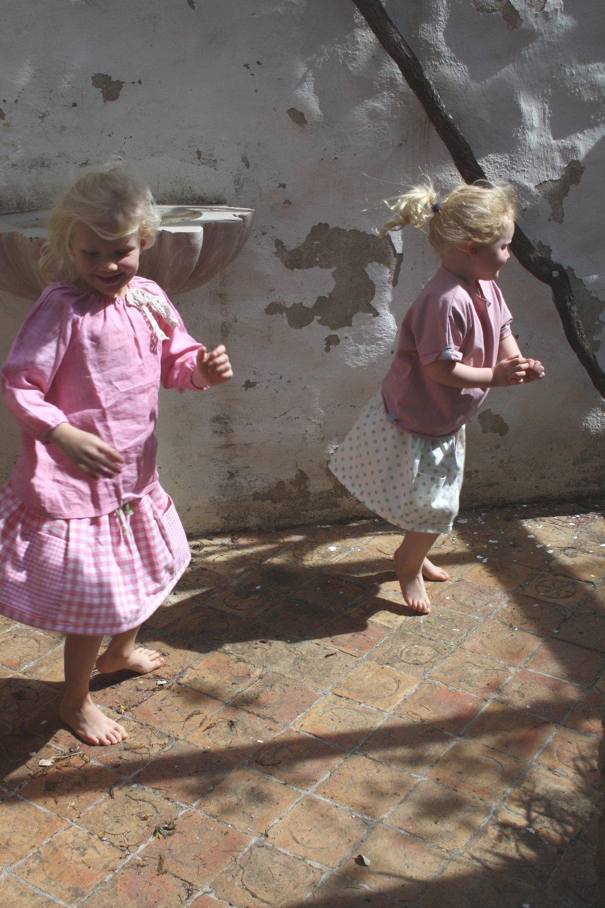 Market Skirt-pink check