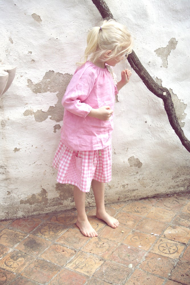 Image of Market Skirt-pink check