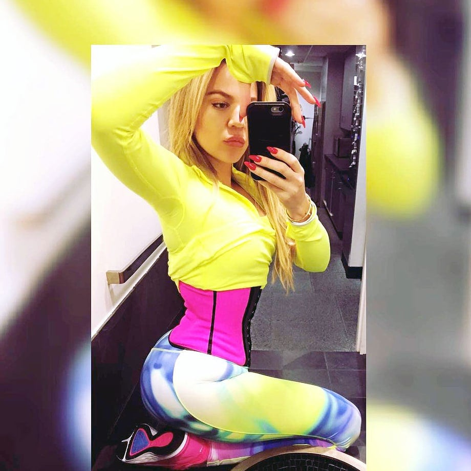 Image of 'The gym one' workout waist trainer exercise corset.