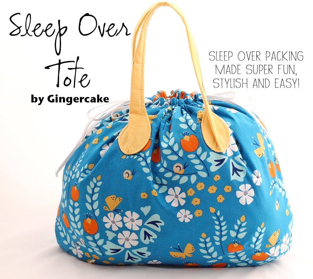 Image of Sleep Over Tote PDF Sewing Pattern