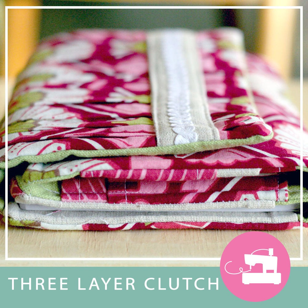 Image of 3 Layer Clutch Wallet PDF Sewing Pattern