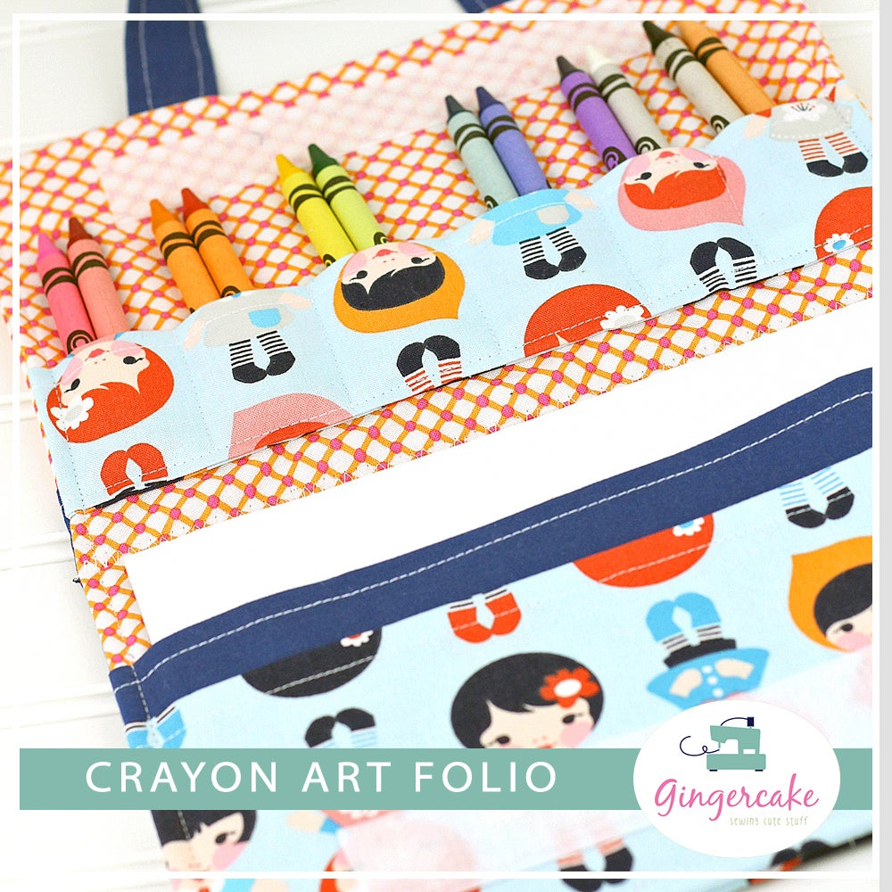 Image of Crayon Art Folio PDF Sewing Pattern