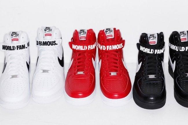 Supreme Nike Air Force 1 High Tops