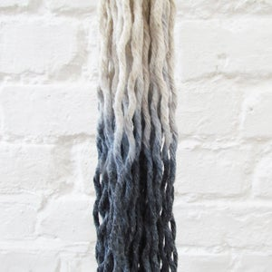 Image of Ombre Macramé Plant Hanger - Denim Blue