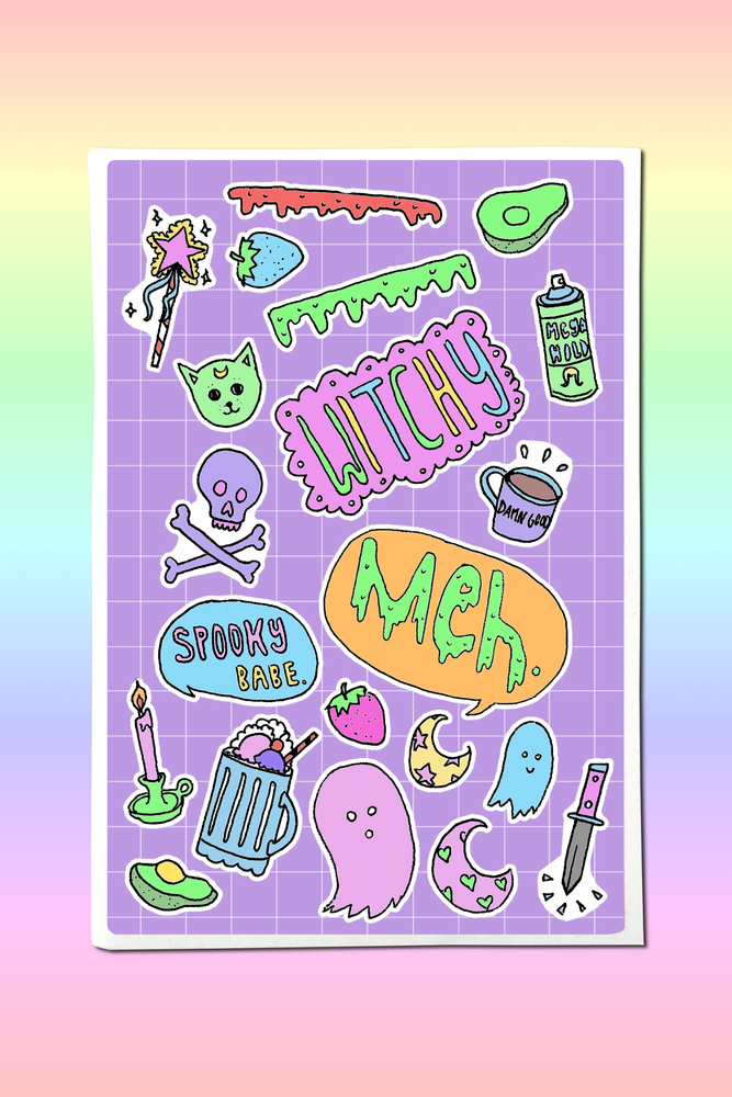 Image of SPOOKY DOLL STICKER SHEET
